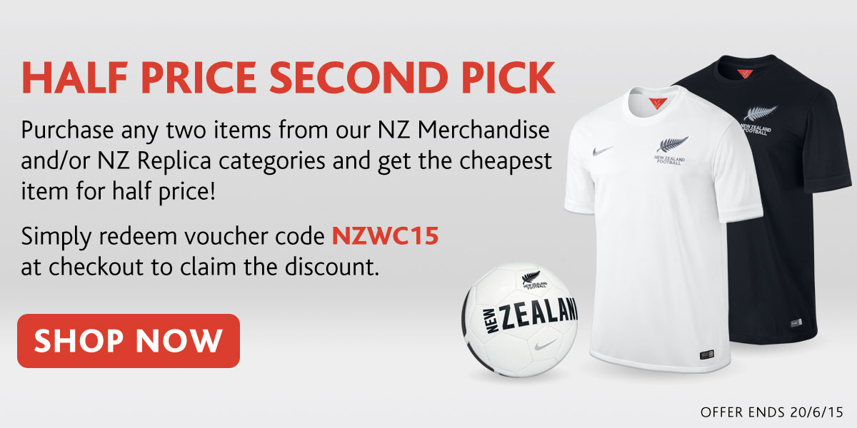 Half Price Second Picks in the NZ Football Shop