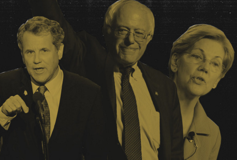 Senators Sherrod Brown, Bernie Sanders, and Elizabeth Warren