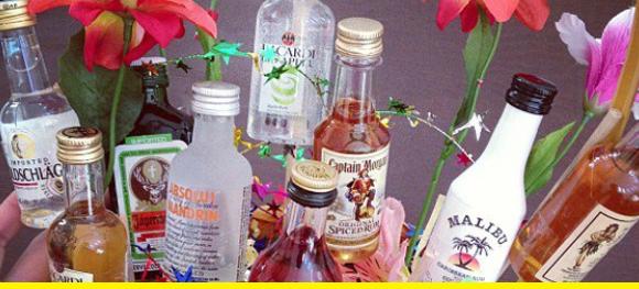 A booze bouquet